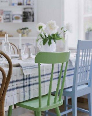 chezlisen.blogspot.com2 Coloured Chairs