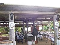 100 2060 front log cabin hats2 A Barn Wedding Queensland