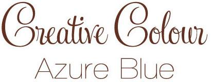Azure Blue text Creative Colour Azure Blue