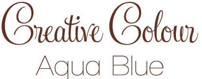 aqua blue text Creative Colour Aqua Blue