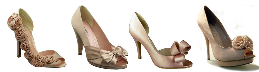 blush pink wedding shoes2 Spring Coloured Shoes