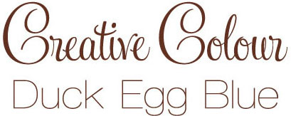 duck egg blue text Creative Colour Duck Egg Blue