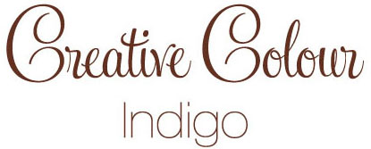indigo text Creative Colour Indigo