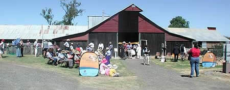 woolshed exterior new A Barn Wedding Queensland