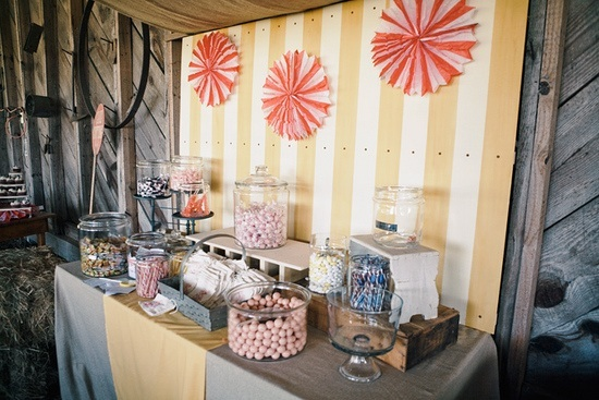 circus wedding candy buffet Having A Bar Of It The Decoration