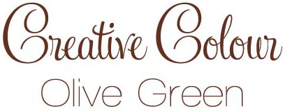 oliver green text Creative Colour Olive Green