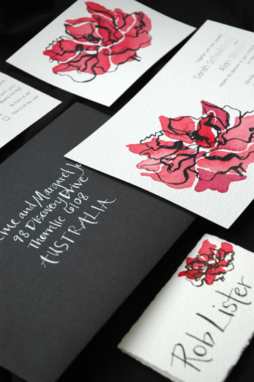peony wedding invitation(2)