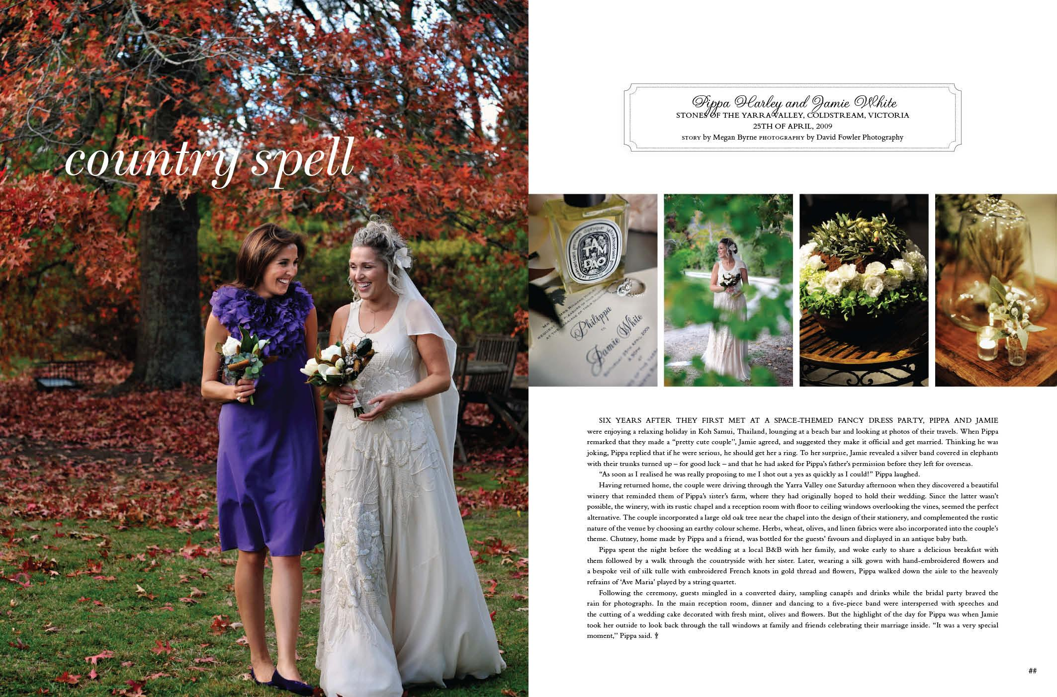 real weddings style magazine country charm001 Real Weddings Style Country Spell