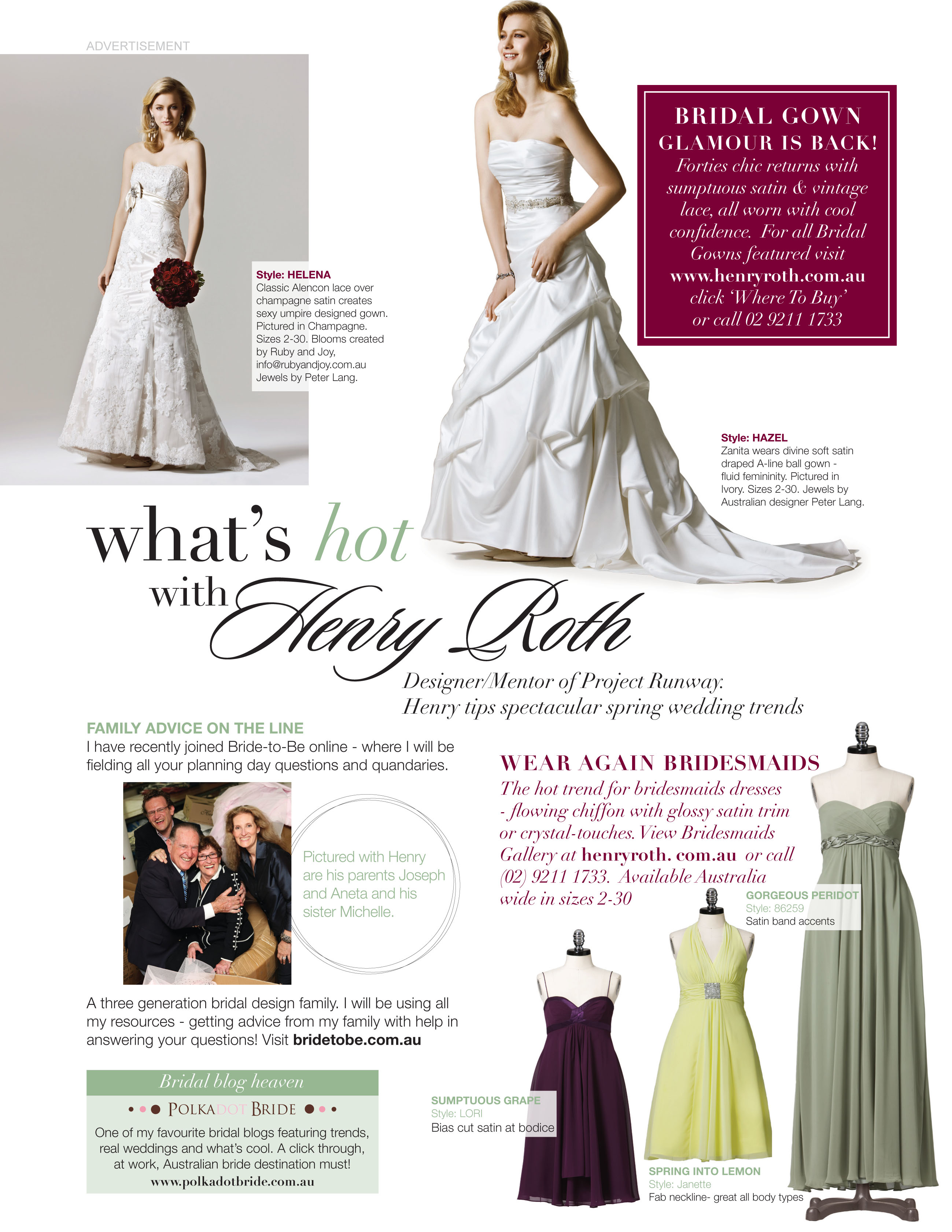 Henry Roth FP Bride to Be Nov Henry Roth Sneak Peek