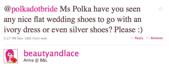 Twitter1 Fabulous Flat Bridal Shoes