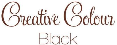 black text Creative Colour Black
