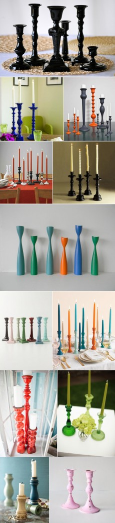 coloured candlesticks