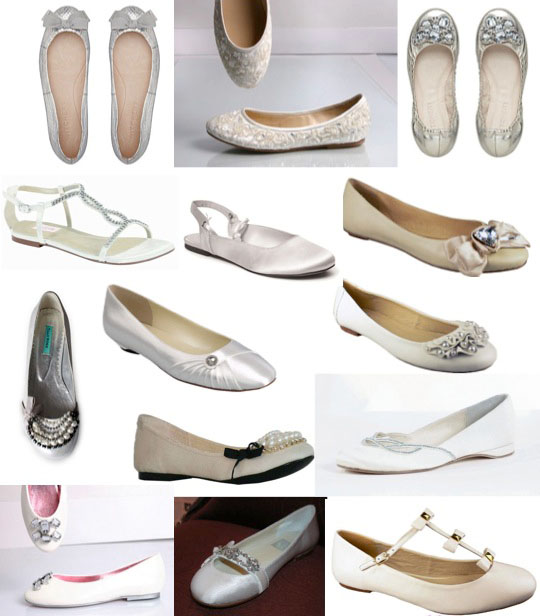 flat wedding bridal shoes Fabulous Flat Bridal Shoes