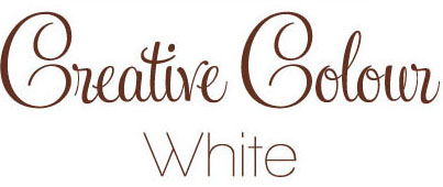 white text Creative Colour White
