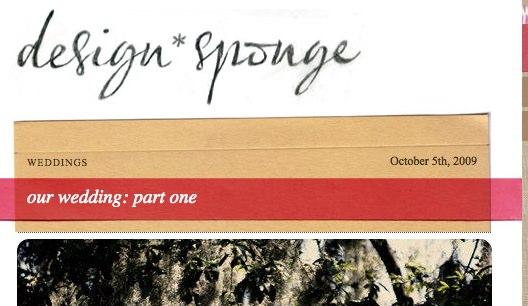 DesignSponge  our wedding_ part one