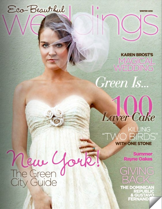Eco Beautiful Weddings Magazine For Eco Friendly Eco Couture Weddings Out Now December 2009