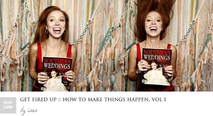 GET FIRED UP HOW TO MAKE THINGS HAPPEN VOL I Lara Casey Holiday Reading Guide