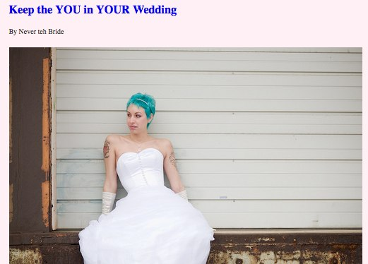 Keep the YOU in YOUR Wedding Manolo for the Brides Holiday Reading Guide