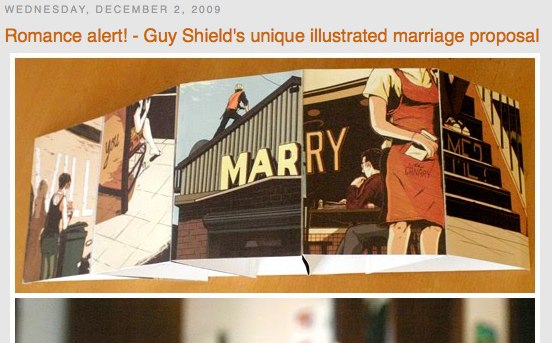 The Design Files Romance alert Guy Shield s unique illustrated marriage proposal Holiday Reading Guide