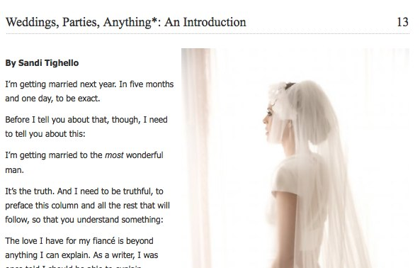 WeddingsPartiesAnything An Introduction Onya Magazine Holiday Reading Guide