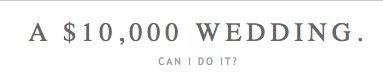 a 10000 wedding. Wedding News Roundup