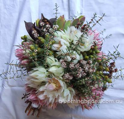 australian native wedding bouquets0071 Australian Native Bouquets by Blooming Brides