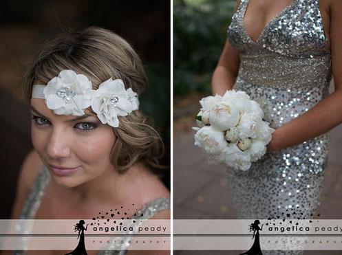 bride in silver sequin dress01