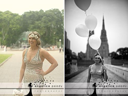 bride in silver sequin dress02