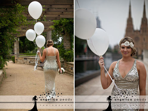 bride in silver sequin dress05 Sparkling Glamour Bridal Shoot