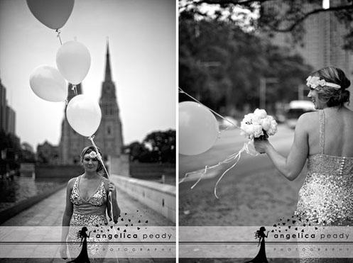 bride in silver sequin dress06
