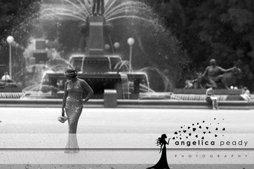 bride in silver sequin dress09