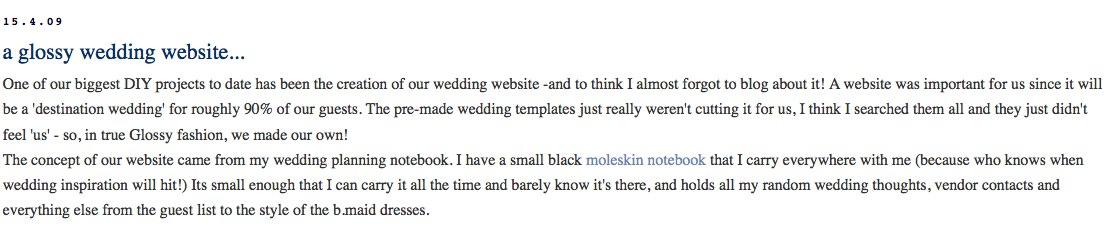 classically modern a glossy wedding website