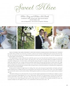 alice rw16 11 245x300 Sweet Alice Real Weddings Magazine Sneak Peek