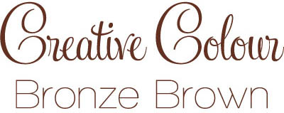 bronze brown text Creative Colour Bronze Brown