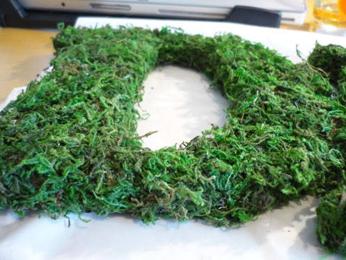 DIY Moss Letters004 DIY Moss Letters Project