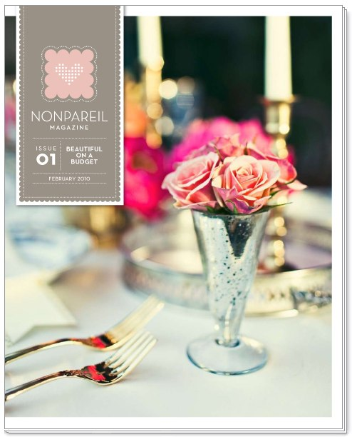 Nonpareil 1 Beautiful on a Budget | DIY Wedding Projects, Free Templates, and Ideas at Nonpareil Magazine