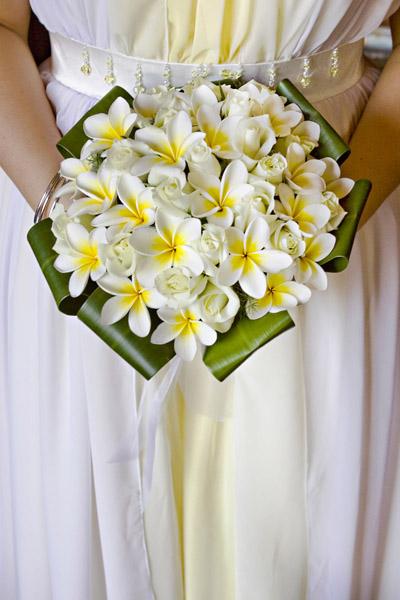 frangipani bouquet Wedding Budgets and Bothers