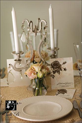 vintage rose tablescape0011 Vintage Rose Tablescape