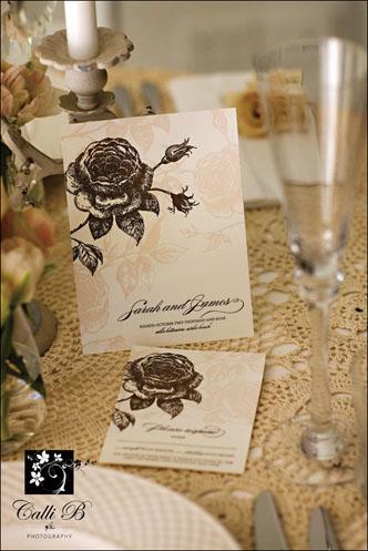 vintage rose tablescape0021 Vintage Rose Tablescape