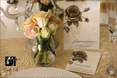 vintage rose tablescape0051 Vintage Rose Tablescape