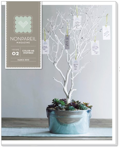 Nonpareil 02 Color Me Inspired DIY Wedding Projects Free Templates and Ideas at Nonpareil Magazine Out Now March 2010