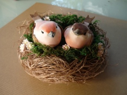 DIY Project Birds Nest Cake Topper
