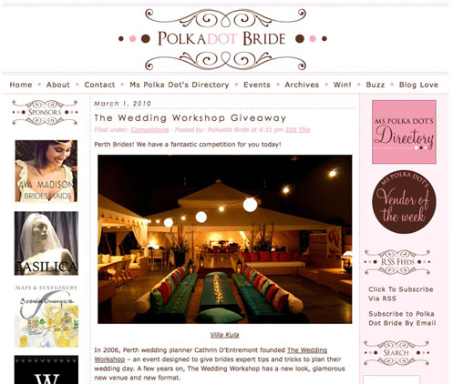 polka dot bride wedding news004 Wedding News Roundup