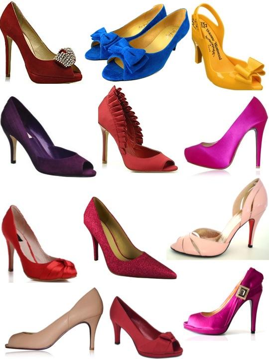 autumn coloured bridal shoes1 Autumn Coloured Bridal Shoes
