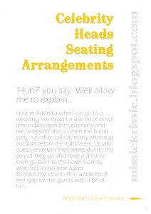 Celebrity Heads Seating Arrangements pg1