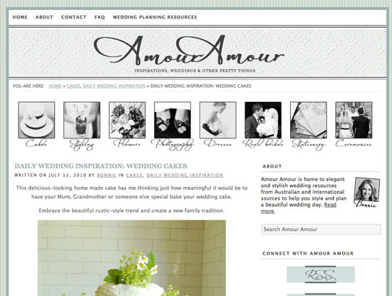 amouramour.com .au Wedding News Roundup