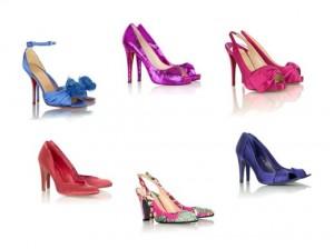 polkadotbridecolouredshoes