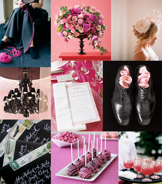 pink and black wedding Blush and Black Ball
