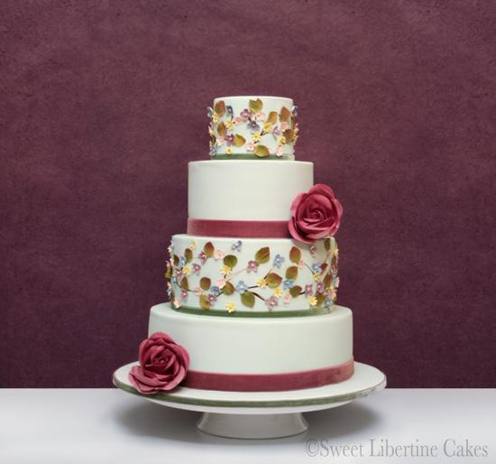1sweet libertine soring inspired cakes Spring Inspired Wedding Cakes