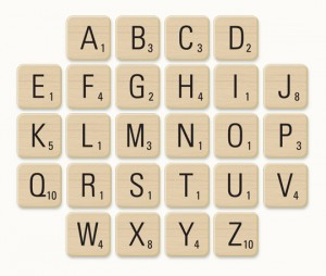 Scrabble Pieces Vector